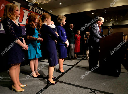 Todd Akin U.S. Senate candidate, Rep. Todd Akin, R-Mo., is backed by family members as he gives his concession speech to U.S. Sen. Claire McCaskill, D-Mo., in Chesterfield, Mo