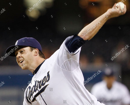 Andrew Werner San Diego Padres pitcher Andrew Werner works the first inning against the San Francisco Giants during of a baseball game in San Diego