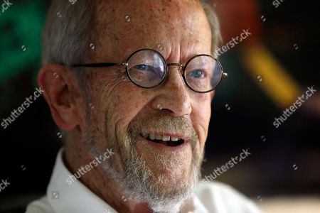 Elmore Leonard Author Elmore Leonard, 86, smiling during an interview at his Bloomfield Township, Mich., home. Leonard, winner this year of an honorary National Book Award, is 87 and says the prize inspired him to write more novels
