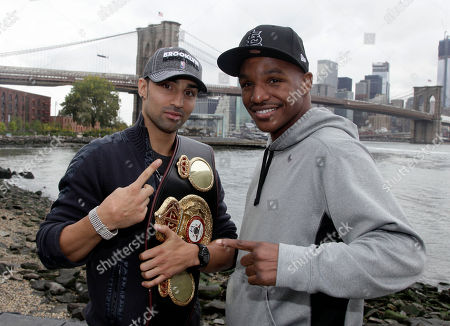 Paul Malignaggi, Devon Alexander Paul Malignaggi, left, of Brooklyn, N.Y., the current WBA Welterweight Champion, and Devon Alexander, the former WBC and IBF Light Welterweight champion, of St. Louis, pose near the Brooklyn Bridge, in the Brooklyn borough of New York, . The are scheduled to appear in separate bouts Saturday prior to the Danny Garcia-Erik Morales Super Lightweight bout at the Barclays Center, in Brooklyn