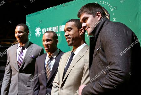 Jared Sullinger, Avery Bradley, Courtney Lee, Darko Milicic Boston Celtics' Jared Sullinger, Avery Bradley, Courtney Lee and Darko Milicic pose prior to the annual Shamrock Gala to benefit the team's Shamrock Foundation in Boston