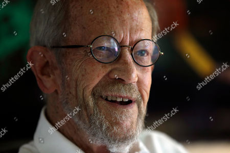 Stock Picture of Elmore Leonard Author Elmore Leonard appears at his Bloomfield Township, Mich., home. Choice samples from a vast collection of handwritten notebooks, typed manuscripts and screenplays by the late best-selling crime novelist Elmore Leonard are going on display at the University of South Carolina. Leonard, a former adman who later in life became one of America's foremost crime writers, has died on Aug. 20, 2013 from complications from a stroke