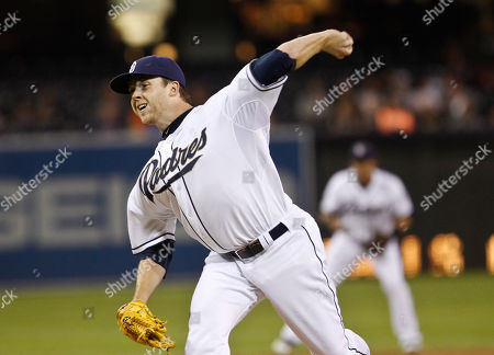 Andrew Werner San Diego Padres pitcher Andrew Werner throws a pitch to the San Francisco Giants during the first inning of a baseball game in San Diego