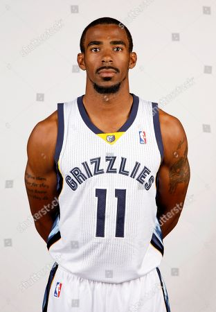 Mike Conley This photo shows Memphis Grizzlies guard Mike Conley in Memphis, Tenn