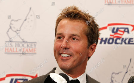 Mike Modano Hockey great Mike Modano smiles as he speaks to reporters before the U.S. Hockey Hall of Fame class of 2012 induction dinner in Dallas