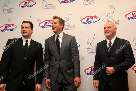 Eddie Olczyk, Mike Modano, Lou Lamoriello Hockey greats from left, Eddie Olczyk, Mike Modano and Lou Lamoriello gather for a photo before the U.S. Hockey Hall of Fame class of 2012 induction dinner in Dallas