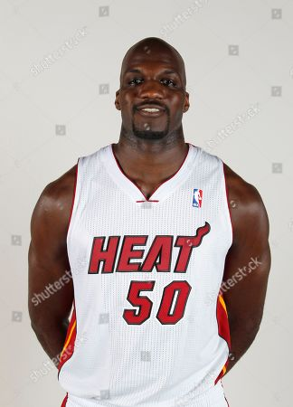 Joel Anthony Miami Heat center Joel Anthony poses for a photo during the Heat's Media Day, in Miami