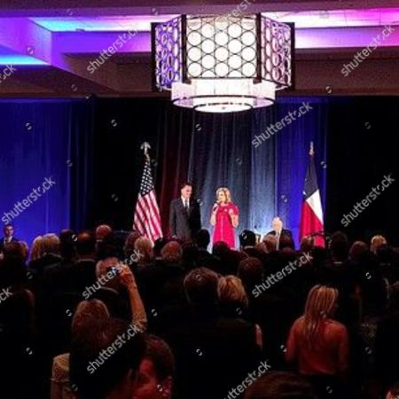 Mitt Romney, Ann Romney, T. Boone Pickens Mitt and Ann Romney, T. Boone Pickens on stage at fundraising event in Dallas, Texas #aponthetrail