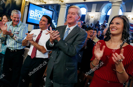 William Weld, Lenny Clarke, Richard Tisei, Ayla Brown Former Massachusetts Gov. William Weld, second from right, applauds along with comedian Lenny Clarke, left, Republican candidate in the Massachusetts 6th congressional district, Richard Tisei, second from left, and daughter of Sen. Scott Brown, R-Mass., Ayla Brown, right, during a campaign rally for Scott Brown at Faneuil Hall in Boston, . Brown and Democratic challenger Elizabeth Warren are urging supporters to work as hard as they can in the final days of the campaign to get their voters to the polls