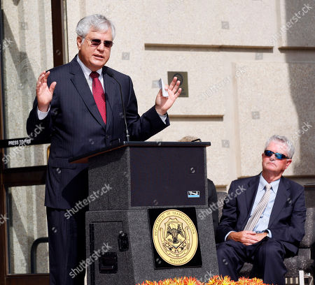 """Billy McCoy, Johnny Stringer Former Speaker of the Mississippi House of Representatives William """"Billy"""" McCoy of Rienzi, listens as State Rep. Johnny Stringer, D-Montrose speaks at the dedication of the Mississippi Department of Transportation headquarters in downtown Jackson, Miss., as the William J. """"Billy"""" McCoy Building, . The Democrat McCoy served in the House from January 1980 until January 2012 and was the chamber's presiding officer for the final eight years of his career. He was instrumental in passing a major highway program in 1987"""
