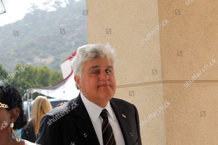 Jay Leno Jay Leno arrives at the Michael Clarke Duncan Memorial Service at Forest Lawn Memorial-Park and Mortuaries in the Hollywood Hills section of Los Angeles