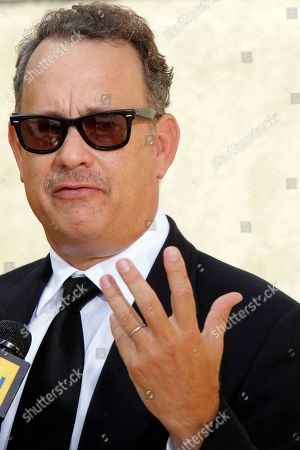 Stock Photo of Tom Hanks Actor Tom Hanks arrives at the Michael Clarke Duncan Memorial Service at Forest Lawn Memorial-Park and Mortuaries in the Hollywood Hills section of Los Angeles