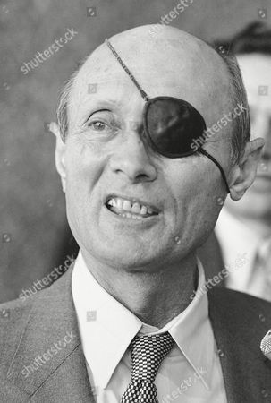 Moshe Dayan Shows smiling former Israeli Foreign Minister Moshe Dayan during a brief press conference at O'Hare Airport in Chicago. Unidentified vandals desecrated the grave of former Israel Defense Minister Moshe Dayan overnight, at a cemetery in northern Israel