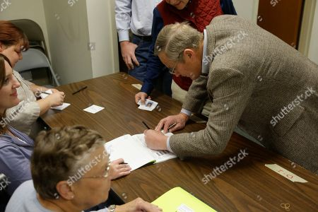 Todd Akin Missouri Senate candidate, Rep. Todd Akin, R-Mo., signs in to vote at his polling place, Star Bridge Christian Center, in Wildwood, Mo. Akin is running against incumbent Sen. Claire McCaskill, D-Mo