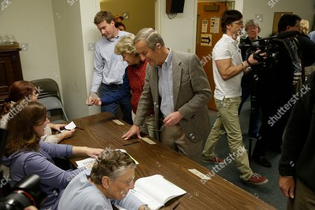 Todd Akin Missouri Senate candidate, Rep. Todd Akin, R-Mo., checks in to vote at his polling place, Star Bridge Christian Center, in Wildwood, Mo. Akin is running against incumbent Sen. Claire McCaskill, D-Mo