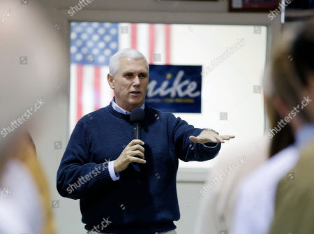 Mike Pence Indiana's Republican gubernatorial candidate Mike Pence talks to supporters before voting, in Clifford, Ind. Pence is running against Democrat John Gregg and Libertarian Rupert Boneham
