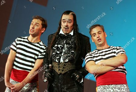 David Curry (Marco), Donald Maxwell (Don Alhambra) and Toby Stafford-Allen (Giuseppe)