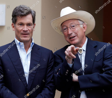 Louis Bacon Interior Secretary Ken Salazar, right, talks with billionaire hedge fund manager Louis Bacon at a news conference in Denver on . Secretary of Interior Ken Salazar announced at the conference that Bacon is adding a conservation easement to protect nearly 77,000 acres of his 81,400-acre Trinchera Ranch from development
