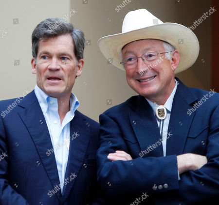 Louis Bacon Interior Secretary Ken Salazar, right, talks with billionaire hedge fund manager Louis Bacon at a news conference in Denver on . Salazar announced at the conference that Bacon is adding a conservation easement to protect nearly 77,000 acres of his 81,400-acre Trinchera Ranch from development