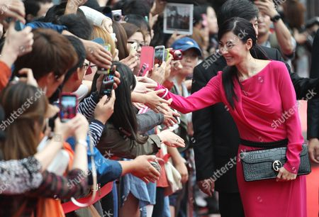 "Cecilia Cheung Hong Kong actress Cecilia Cheung is greeted by fans as arrived for a press conference of her movie ""Dangerous Liasons"" at Haneulyeon Theater during the Busan International Film Festival in Busan, South Korea"