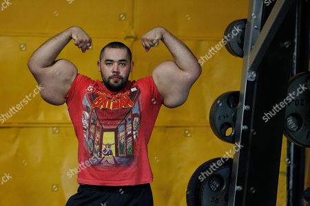 Moustafa Ismail Egyptian Body builder Moustafa Ismail poses during his daily workout at World Gym in Milford, Mass. Ismail has been given the title of world's biggest arms, biceps and triceps, by the Guinness Book of World Records