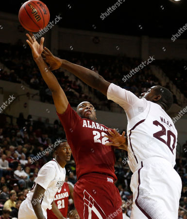 Gavin Ware, Andrew Steele Mississippi State forward Gavin Ware (20) prevents Alabama guard Andrew Steele (22) from getting a layup in the second half of their NCAA college basketball game in Starkville, Miss., . Alabama won 75-43