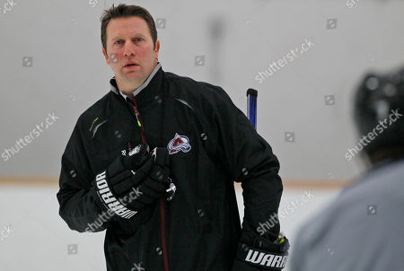 Joe Sacco Colorado Avalanche head coach Joe Sacco directs players during the teams NHL hockey practice session in Englewood, Colo., on