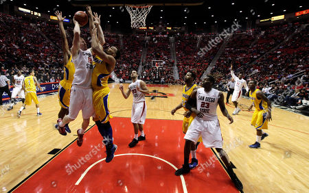 Editorial image of Cal St Bakersfield San Diego St Basketball, San Diego, USA