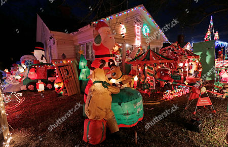 Editorial image of Christmas Lights in America, Montgomery, USA