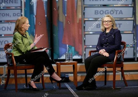 Editorial image of Clinton Townhall, Washington, USA