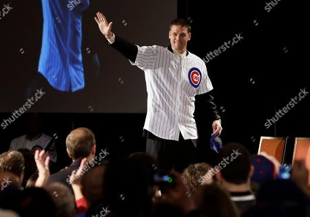 Kerry Wood Former Chicago Cubs pitcher Kerry Wood waves to fans during the Chicago Cubs Convention, in Chicago