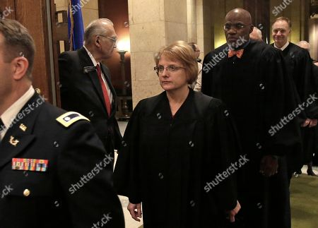 Lorie Skjerven Gildea Minnesota Supreme Court Chief Justice Lorie Skjerven Gildea leads the justices into the Minnesota House chamber for Gov. Mark Dayton's State of the State address before a joint session of the Legislature in St. Paul, Minn