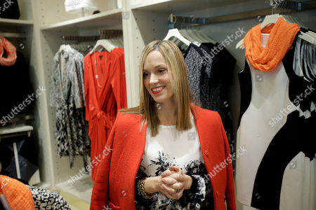 Stock Image of Lisa Axelson Creative director for Ann Taylor, Lisa Axelson discusses fashion at Ann Taylor's renovated location in The Westchester shopping mall in White Plains, N.Y. She pointed out the styles that she believes are the cornerstone of a woman's wardrobe in 2013