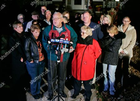 George Ryan, Lura Lynn Ryan Former Illinois Gov. George Ryan speaks to reporters outside his home in Kankakee, Ill., as his wife, Lura Lynn, center right, and family and friends look on after a bid to to delay the start of his prison sentence failed. He reported to prison the following day. Ryan is scheduled to be released from a Terre Haute, Ind., prison, and enter a halfway house in Chicago. Both his wife and a brother died while he was in prison