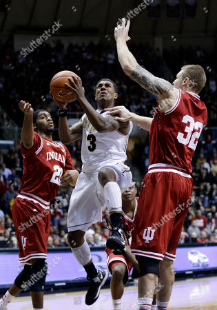 Derek Elston Maurice Creek, Ronnie Johnson Purdue guard Ronnie Johnson, center, shoots between Indiana forwards Christian Watford, left, and Derek Elston in the second half of an NCAA college basketball game in West Lafayette, Ind., . Indiana defeated Purdue 97-60