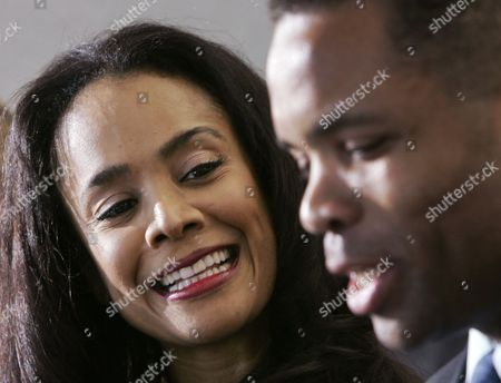 """Jesse Jackson Jr. Sandi Jackson Sandi Jackson, smiles at her husband, then-U.S. Rep. Jesse Jackson Jr., during a news conference in Chicago. Alderman Sandi Jackson on announced she is resigning from the Chicago City Council. In a letter to Mayor Rahm Emanuel, she said that she could not adequately represent her district """"while dealing with very painful family health matters."""" Rep. Jackson recently resigned from Congress while being treated for bipolar disorder and other medical issues"""