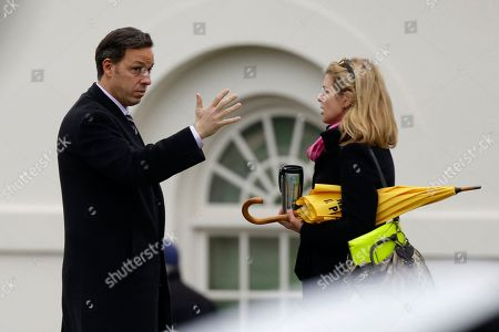Stock Photo of Jake Tapper, Brianna Keilar ABC News correspondent Jake Tapper, left, speaks with CNN correspondent Brianna Keilar on the North Lawn of the White House in Washington