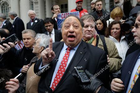 John Catsimatidis John Catsimatidis talks to the media during a news conference on the steps of City Hall in New York, . Catsimatidis announced his intention to run for New York City mayor