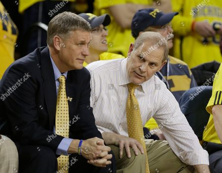 John Beilein, Jeff Meyer Michigan head coach John Beilein, right, talks to assistant Jeff Meyer during the second half of an NCAA college basketball game against Ohio State at the Crisler Center in Ann Arbor, Mich