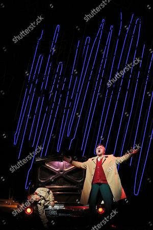Diana Damrau, Zeljko Lucic Zeljko Lucic, right, performs the title roll alongside Diana Damrau during the final dress rehearsal of Giuseppe Verdi's Rigoletto at the Metropolitan Opera in New York