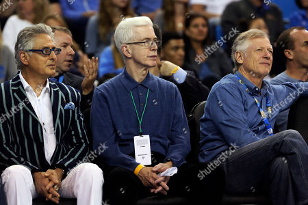 Gray Davis Former California Gov. Gray Davis, center, watches an NCAA college basketball game between UCLA and Oregon State in Los Angeles, . UCLA won 74-64