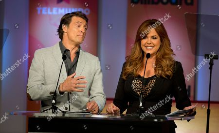 Juan Soler, Maria Celeste Julen Soler and Maria Celeste announce the finalists in Premios Billboard de la Musica Latina 2013 during a tv show in Miami, . Don Omar has done it again. After leading the 2012 list of finalists for the Billboard Latin Music Awards with 16 finalist nods, he returns in 2013 with 18 nods, including Artist of the Year; Social Artist of the Year and Streaming Artist of the Year. Following with 12 nods is bachata star Romeo Santos, while urban duo Wisin & Yandel and the late Jenni Rivera are tied with 11 nods each