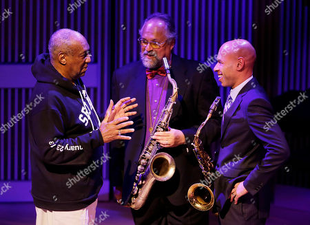 Bill Cosby, Joe Lovano, Joshua Redman Bill Cosby, left, talks with saxophonists Joe Lovano, center, and Joshua Redman, right, during the opening night concert of the SFJAZZ Center in San Francisco. The 700-seat, specially designed concert hall nestled in the heart of the city's arts district attracted a crowd of hundreds with a high-energy, inaugural celebration emceed by Bill Cosby. Billed as the first freestanding building in the West built for jazz performance and education, the center opened Wednesday after raising more than $60 million over more than a decade to build a home for SFJAZZ, the nonprofit that puts on the city's jazz festival