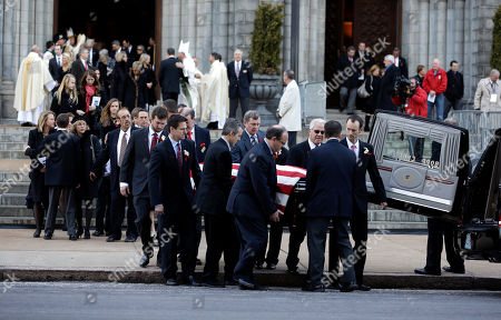 Stan Musial Pallbearers carry the casket containing the body of former St. Louis Cardinals baseball player Stan Musial out of the Cathedral Basilica of Saint Louis following his funeral Mass, in St. Louis. Musial, one of baseball's greatest hitters and a Hall of Famer with the Cardinals for more than two decades, died Saturday, Jan. 19, 2013. He was 92