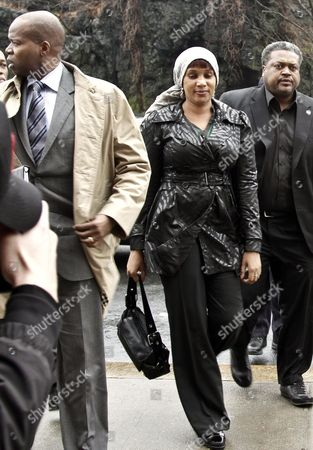 Nafissatou Diallo, who claims she was sexually assaulted by former International Monetary Fund leader Dominique Strauss-Kahn, arrives at a Bronx courthouse in New York. The outcome of the sexual assault lawsuit may soon be decided in court. Lawyers for both will update a judge Monday on the status of settlement discussions. AP Photo/Bebeto Matthews