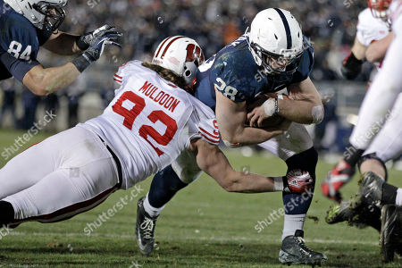 Zach Zwinak Penn State running back Zach Zwinak (28) is tackled by Wisconsin defensive lineman Pat Muldoon (92) as he scores on a two-point conversion during the fourth quarter of an NCAA college football game in State College, Pa., . Penn State won in overtime 24-21