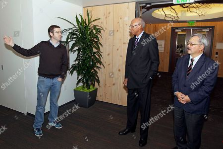 Dave Bing, Ed Lee, Alex MacGillivray Twitter General Counsel Alex MacGillivray, left, welcomes Detroit Mayor Dave Bing, center, and San Francisco Mayor Ed Lee, right, to the company's headquarters, in San Francisco. Bing made good on his World Series wager with Lee wherein the two vowed the leader of the losing team's city would tour economic ventures and perform some community service involving young people. The Giants swept the Tigers in four baseball games