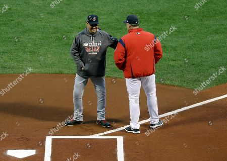 Terry Francona, John Farrell Cleveland Indians manager Terry Francona, left, departs after shaking hands with Boston Red Sox manager John Farrell at home plate before Game 3 of baseball's American League Division Series, in Boston