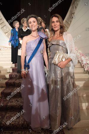Princess Antonella de Orleans-Borbon and Princess Sibilla of Luxembourg