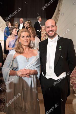 Princess Lea of Belgium and Prince Ali of Egypt